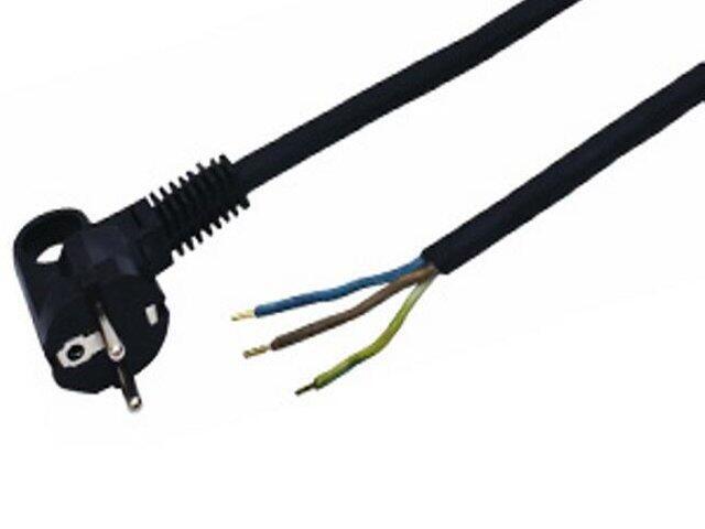 Przewód przyłączeniowy OMY3x1 1,6m czarna Polmark