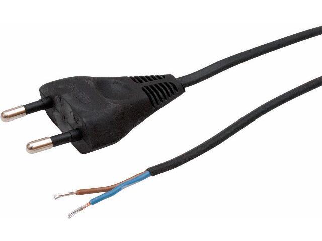 Przewód przyłączeniowy OMYp 2x0,75 1,9m czarna Polmark