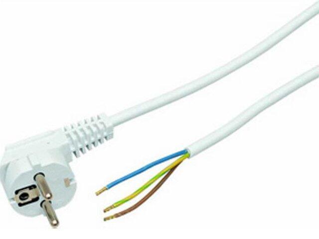 Przewód przyłączeniowy OMY3x1,5 1,9m biała Polmark