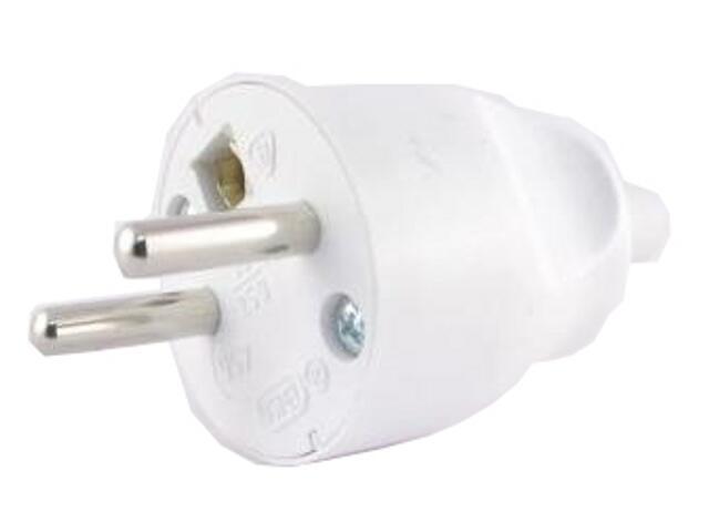 Wtyczka kablowa prosta 2P+Z/I biały Ospel