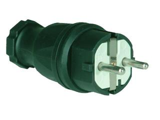 Wtyczka kablowa jednofazowa gumowa z zabezpieczeniem bocznym VDE PCE