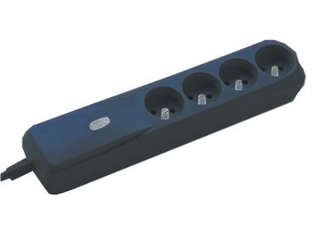 Listwa zasilająca z filtrem 4G 1,5m czarna LF430BWnA Lestar