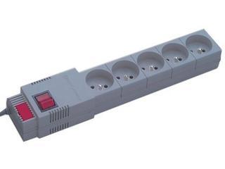 Listwa zasilająca z filtrem 5G 1,5m szara PC 5ST G-A Lestar