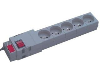 Listwa zasilająca z filtrem 5G 2,5m szara PC-5ST Lestar
