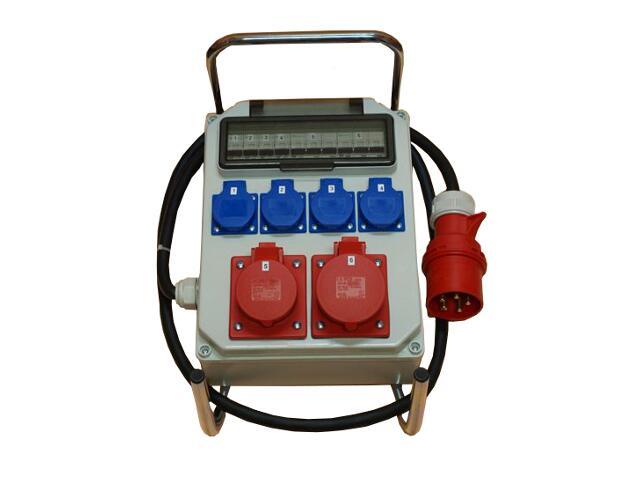 Hel Rozdzielnia wyposażona wej.32/5-wyj.32/5 16/5xB16 4xGSx2xB16 FI30mA PCE