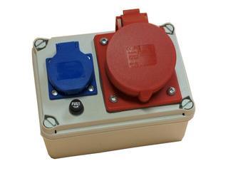 Koło Rozdzielnia wyposażona wejście Pg21-wyjście 32/4 Gs bezpiecznik rurkowy PCE