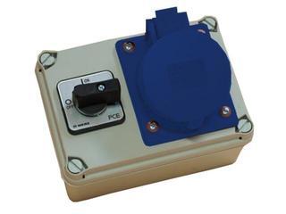Koło Rozdzielnia wyposażona wejście Pg21 wyłącznik 32A 0-1 wyjście 32/3 PCE