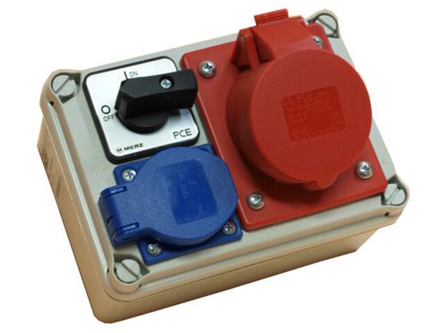 Koło Rozdzielnia wyposażona wejście Pg16 wyłącznik 16A 0-1 wyjście 16/4 GS PCE