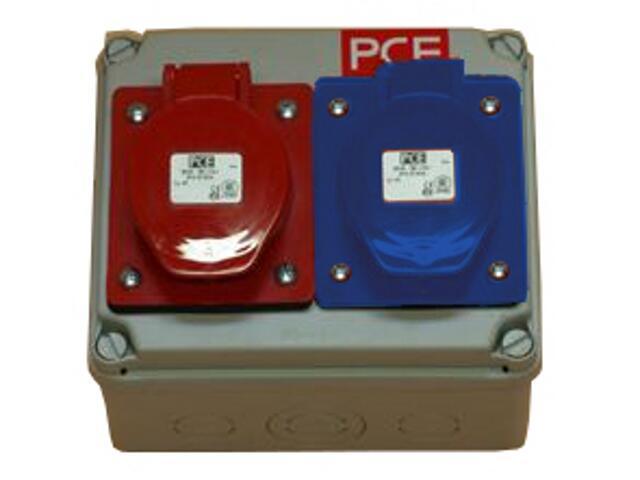 Płock Rozdzielnia wyposażona wejście Pg16-wyjście 16/3 16/5 PCE