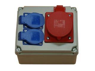 Płock Rozdzielnia wyposażona wejście Pg16-wyjście 16/4 2xGS PCE