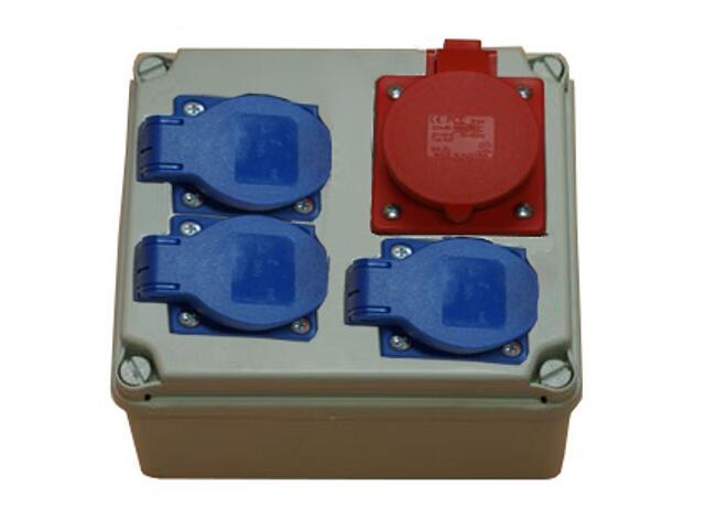 Płock Rozdzielnia wyposażona wejście Pg16-wyjście 16/4 3xGS PCE