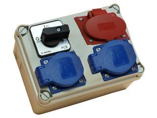 Płock Rozdzielnia wyposażona wejście Pg16 wyłącznik 16A 0-1-wyjście 16/4 2xGS PCE