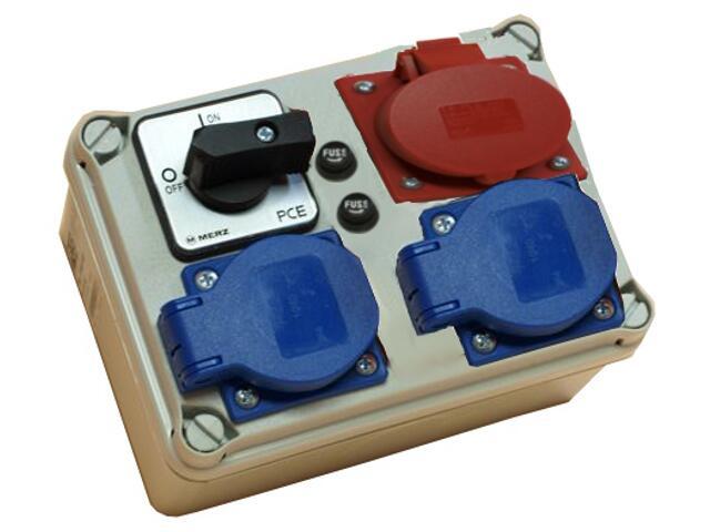 Płock Rozdzielnia wyposażona wej.Pg21 wył. 32A 0-1-wyj.32/4 2xGS 2x bezp.rurkowy PCE