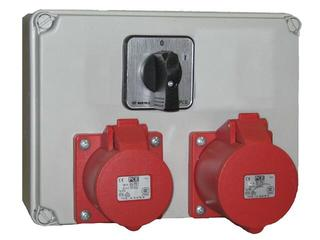 Mława Rozdzielnia wyposażona wejście Pg16 wyłącznik 0-1-wyjście 2x16/4. PCE