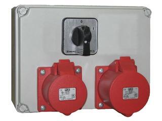 Mława Rozdzielnia wyposażona wejście Pg21 wyłącznik 0-1-wyjście 2x32/4 PCE