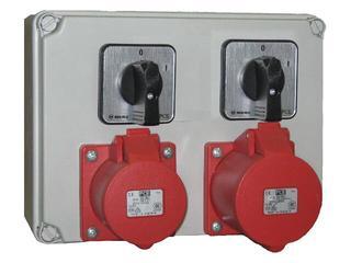 Mława Rozdzielnia wyposażona wejście 2xPg16 2x wyłącznik 0-1-wyjście 2x16/5 PCE