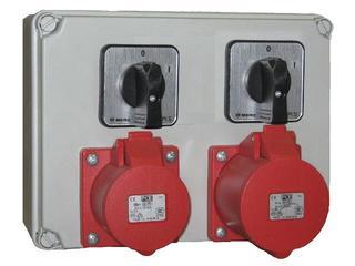 Mława Rozdzielnia wyposażona wejście 2xPg21 2x wyłącznik 0-1-wyjście 2x32/5 PCE