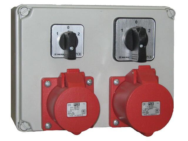 Mława Rozdzielnia wyposażona wejście 2xPg16 2x wyłącznik L-0-P-wyjście 2x16/5 PCE