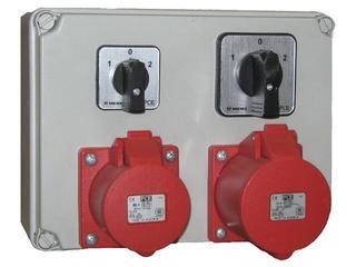 Mława Rozdzielnia wyposażona wejście 2xPg21 2x wyłącznik L-0-P-wyjście 2x32/5 PCE