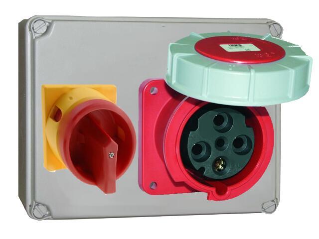 Mława Rozdzielnia wyposażona wejście Pg29 wyłącznik 0-1-wyjście 63/4 PCE