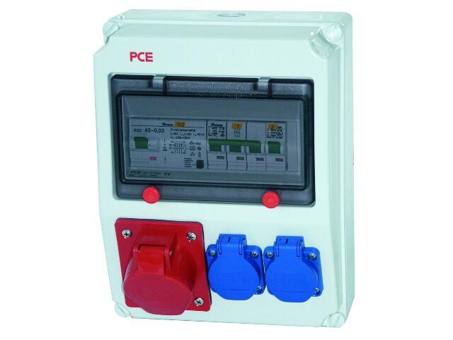 Andrychów Rozdzielnia wyposażona wejście Pg21-wyjście 32/5xB32 16/5xB16 PCE