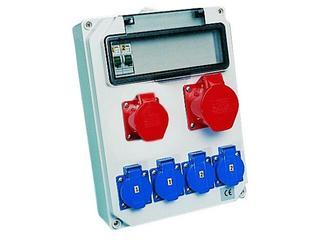 Hel Rozdzielnia wyposażona wejście Pg21-wyjście 32/5xB32 16/5xB16 4xGSx2xB16 PCE