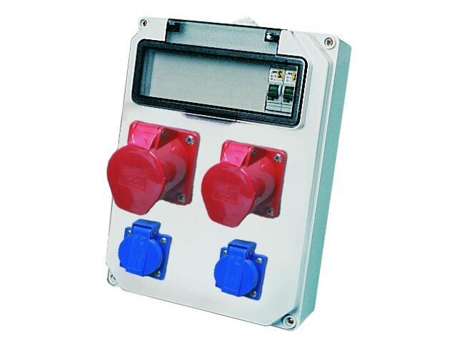 Hel Rozdzielnia wyposażona wej.Pg21-wyj.32/5 16/5xB16 2xGSx2xB16 FI30mA PCE