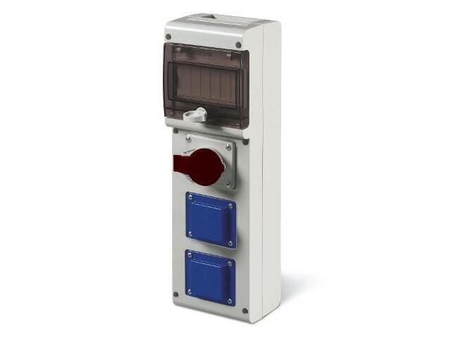 Rozdzielnia wyposażona BLOCK3 1x16A 3P+N+E, 2x230V Scame