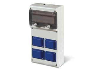 Rozdzielnia wyposażona BLOCK4 4x230V, 10DIN Scame