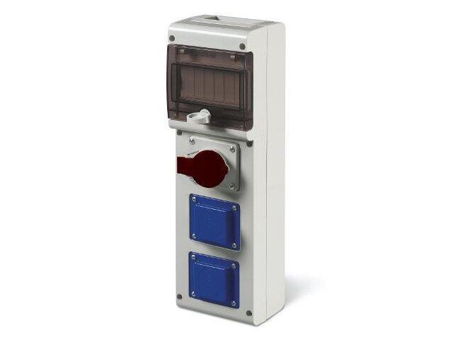 Rozdzielnia wyposażona BLOCK3 1x32A 3P+N+E, 2x230V Scame