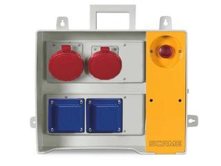Rozdzielnia wyposażona MBOX 24 2x230V/16A domowe,1x400V/16A,1x400V/32A/5 Scame