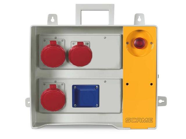 Rozdzielnia wyposażona MBOX 24 2x230V/16A domowe,1x400V/16A,2x400V/32A/5 Scame