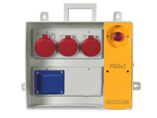 Rozdzielnia wyposażona MBOX 24 1x230V/16A domowa1x400V/16A,1x400V/32A,1x400V/63A/5 Scame