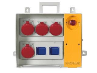 Rozdzielnia wyposażona MBOX 26 2x230V/16A domowe,2x400V/16A,2x400V/32A/5 Scame