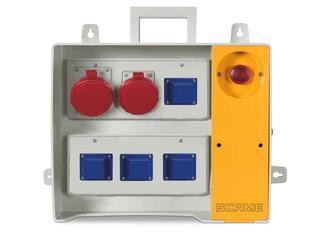 Rozdzielnia wyposażona MBOX 26 4x230V/16A domowe,1x400V/16A,1x400V/32A/5 Scame