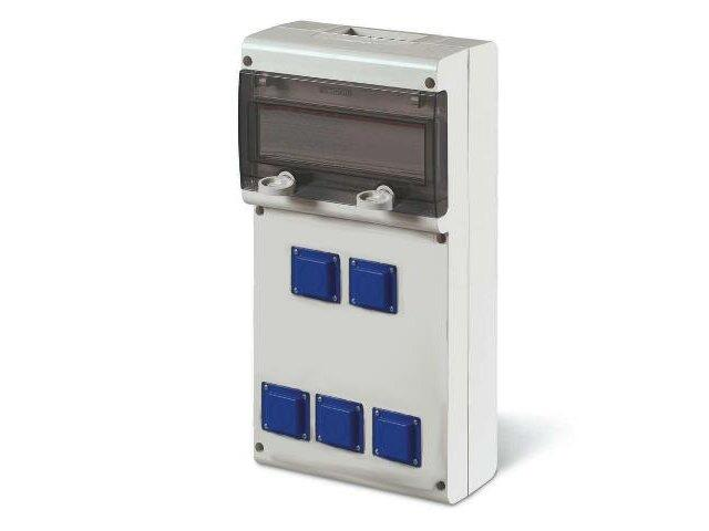 Rozdzielnia wyposażona BLOCK5 5x230V Scame