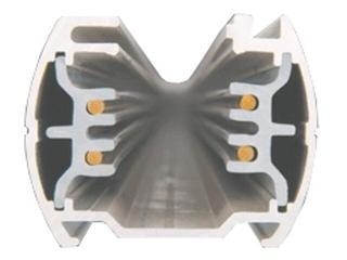 Kanał kablowy SCENA TS szynoprzewód 1m srebrny Brilum