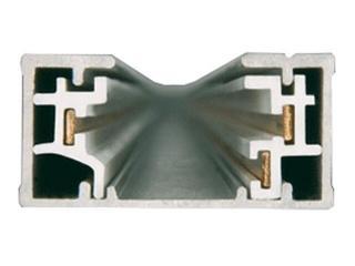 Kanał kablowy ESTRA TS szynoprzewód 1m srebrny Brilum