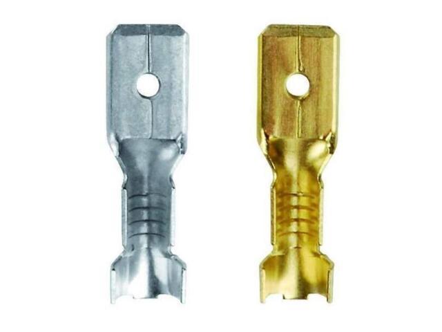 Końcówka konektorowa męska cynowana TS 6,3-2SN 100szt kablowa Erko