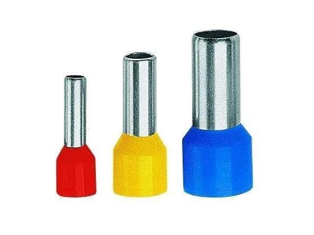 Końcówka kablowa tulejkowa izolowana TE 6-18-K03 100szt czerwony kablowa Erko
