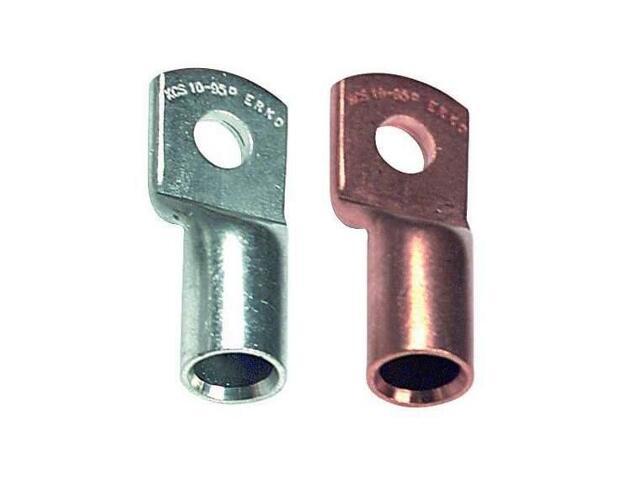 Końcówka kablowa oczkowa tulejkowa miedziana z otworem kontrol. KCS 10-35-K 100szt kablowa Erko
