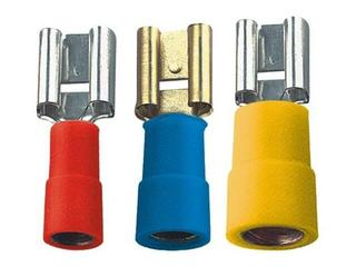 Końcówka konektorowa żeńska cynowana MSE 6,3-2SN-K02 100szt żółty kablowa Erko