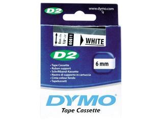 Taśma bazowa D2, 6mm/10m, biały Dymo
