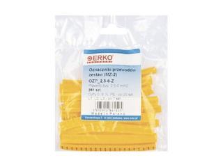 Oznacznik OZP 2,5-6-Z 261szt żółty zestaw oznaczników kablowych Erko