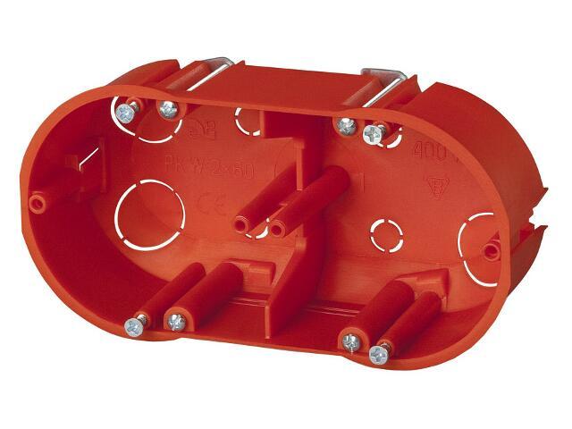 Puszka instalacyjna gips-karton PK-2x60 KG pomarańczowy Elektro-plast N.