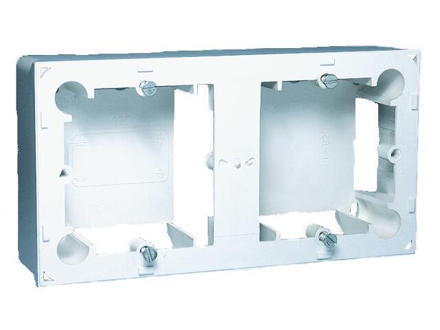 Puszka instalacyjna Classic nadtynkowa 2x MPN2/11 biały Kontakt Simon