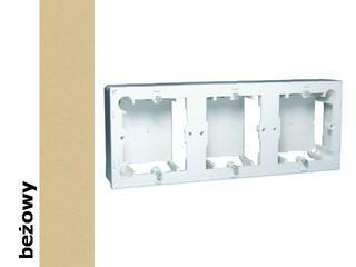 Puszka instalacyjna Classic nadtynkowa 3x MPN3/12 beżowy Kontakt Simon