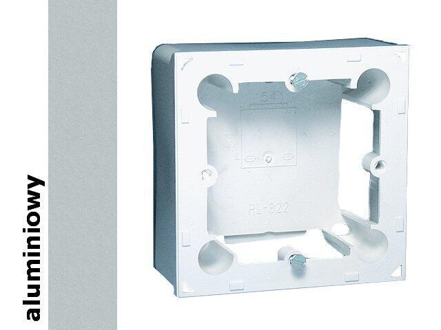 Puszka instalacyjna Classic nadtynkowa 1x MPN1/26 aluminium srebrny Kontakt Simon