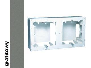 Puszka instalacyjna Classic nadtynkowa 2x MPN2/25 grafit Kontakt Simon