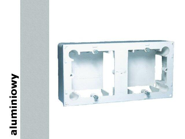 Puszka instalacyjna Classic nadtynkowa 2x MPN2/26 aluminium srebrny Kontakt Simon